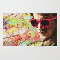 darren criss Area & Throw Rugs featuring Colourful Darren Criss by Ines92