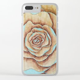 Teal bloom Clear iPhone Case
