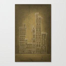 Our Little Town Block Canvas Print