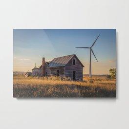 Falling Farm House, North Dakota 8 Metal Print