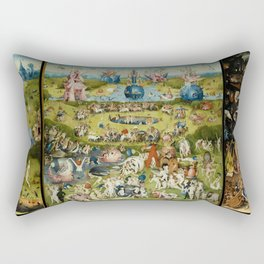 The Garden of Earthly Delights Rectangular Pillow