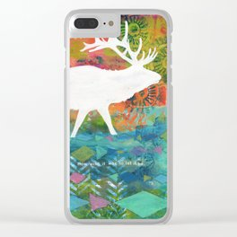 How Wild It Was Elk Collage Clear iPhone Case