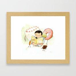 Cake, Cookie, Cupcake, and Brownie Friends Framed Art Print