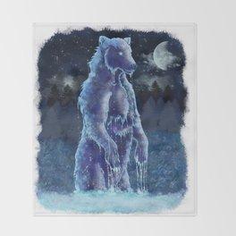 Moon Bear Throw Blanket