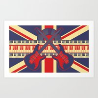 british Art Prints featuring British Rock by Ornaart