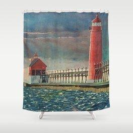 Grand Haven Pier Shower Curtain