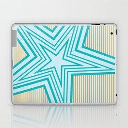 Geometric Blue Star Art Deco Laptop & iPad Skin