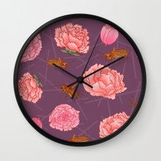 Carnations & Crickets Wall Clock