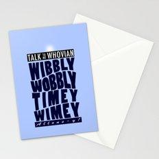 Talk Whovian To Me (alternate version) Stationery Cards