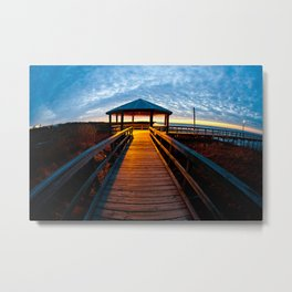 Sunrise Pier Metal Print