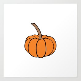 Halloween orange pumpkin Art Print