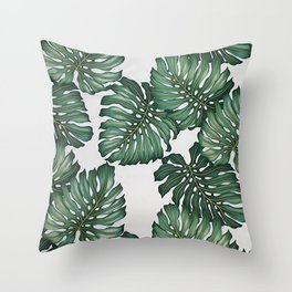 Palm's Away Throw Pillow