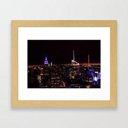 New York City at Night Framed Art Print