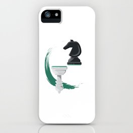Pawn And Knight Chess Board Pieces Game Master iPhone Case