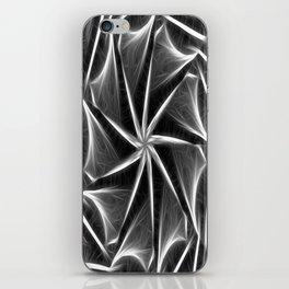 Gray Kaleidoscope Art 16 iPhone Skin