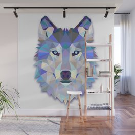 Colorful Wolf Wall Mural