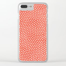 Living Coral Dots Pattern Clear iPhone Case