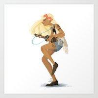 hippie Art Prints featuring Hippie Hippie. by ca-chat