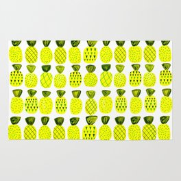 Modern Pineapples Painting Rug