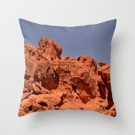 Red Valley III Throw Pillow
