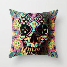 Fancy Skull Throw Pillow
