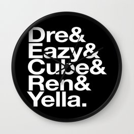 Straight Outta Helvetica Wall Clock
