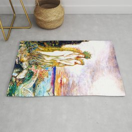 """Gustave Moreau """"The Sirens"""" Rug"""