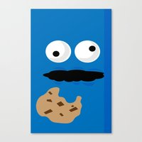 cookie monster Canvas Prints featuring Cookie Monster by Callum McGoldrick