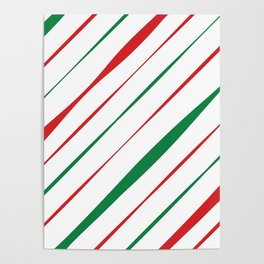 Christmas Stripes Poster