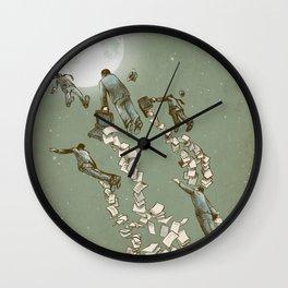 Flight of the Salary Men Wall Clock