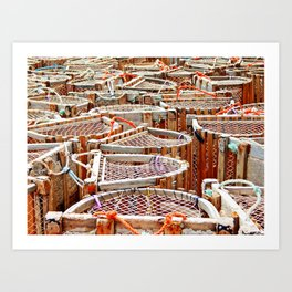 Traditional Lobster Traps Art Print
