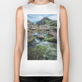 Tryfan Mountain Stream  Biker Tank