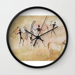Cave art / Cave painting Wall Clock