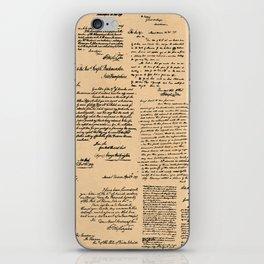 George Washington's Letters // Dark Paper iPhone Skin