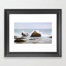 Waves Crash Framed Art Print