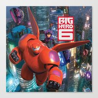 big hero 6 Canvas Prints featuring Big Hero 6  by store2u