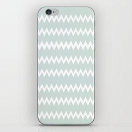 Wedgewood Blue Winter Chevron Design iPhone Skin