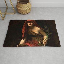 "John Collier ""Priestess of Delphi"" Rug"
