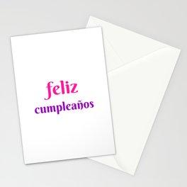 FELIZ CUMPLEANOS HAPPY BIRTHDAY IN SPANISH Stationery Cards