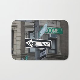 Between Mulberry and Broome Streets - NYC Bath Mat