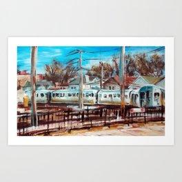 Kimball Brown Line, Chicago Art Print