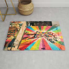 Street Art Mural, Times Square Kiss Recreation Rug