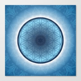 Flower of Life blue 2 Canvas Print