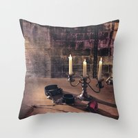bdsm Throw Pillows featuring BDSM Rendezvous by Simone Gatterwe
