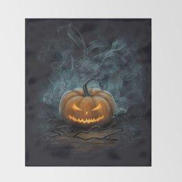 Halloween Pumpkin Throw Blanket