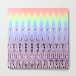 Filigree Rainbow Pattern  Metal Print