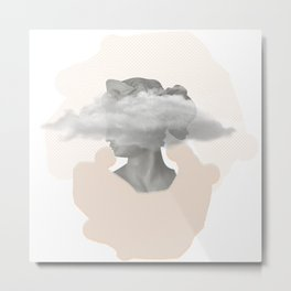 Can't get any higher. Head in a wind tunnel. Everything is vibrating. Metal Print
