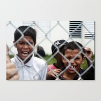 puerto rico Canvas Prints featuring kids from Puerto Rico  by xalomako