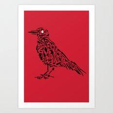 Murderous Crows Art Print