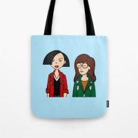 daria Tote Bags featuring Daria & Jane by Marianna